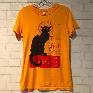 Tournee Chat Noir / Black Cat Graphic T-shirt  XL